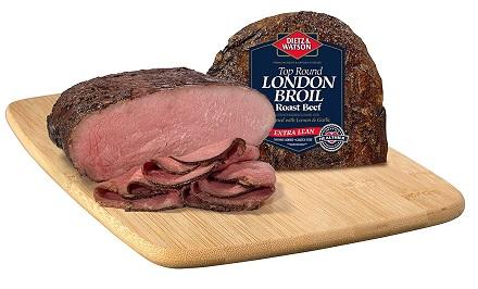 Dietz & Watson Sliced London Broil Roast Beef, 0.5 lbs