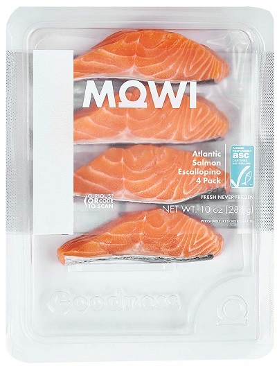 MOWI Escallopino Atlantic Salmon Portion 4-Pack, 10 Oz