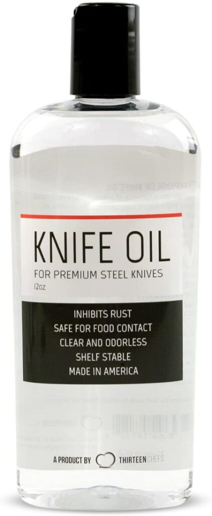 Thirteen Chefs Knife and Honing Oil 12oz