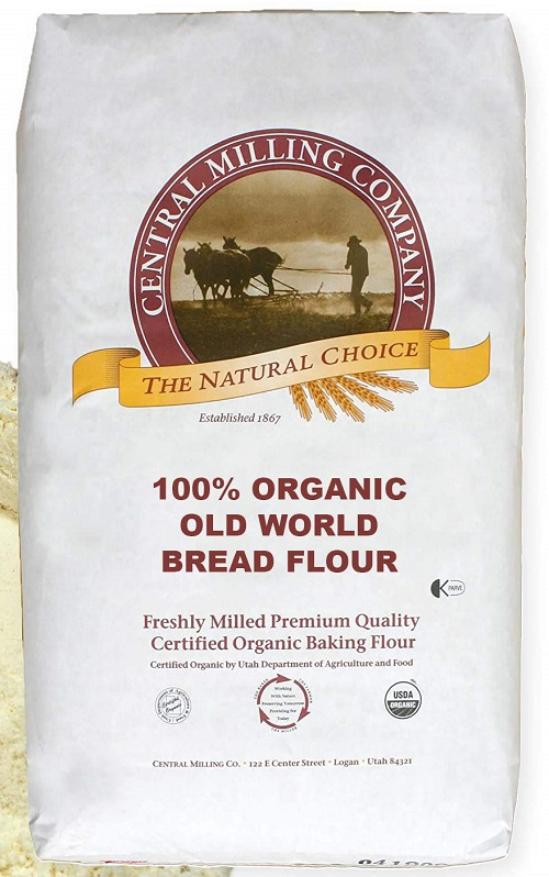 100% Organic Artisan Bread Flour - 25 lbs - Type 80 Old World Blend