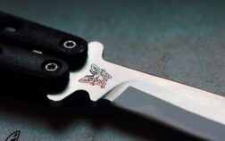 butterfly knife silver