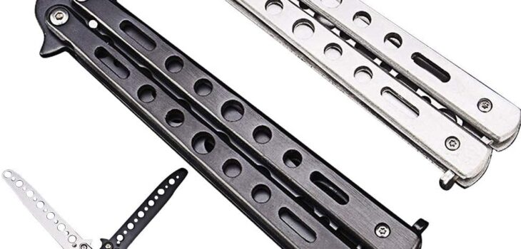 Fecedy 2pcs Butterfly Knife Trainning Practice Comb Unsharpened Blade for Practicing flipping tricks
