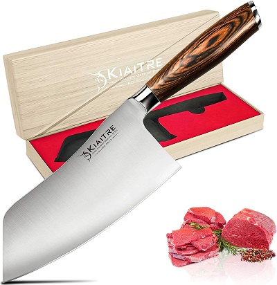 Kiaitre Cleaver Knife 7 Inch