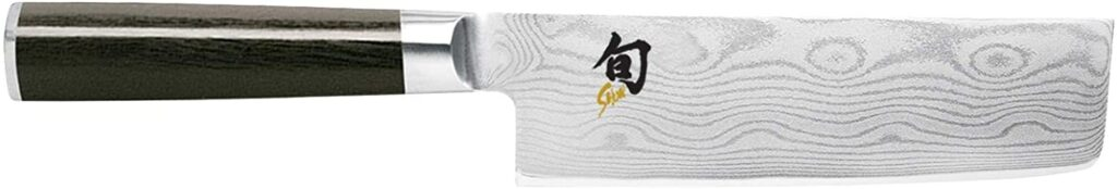 "Shun Cutlery Classic 6.5"" Nakiri Knife; Kitchen Knife Handcrafted in Japan; Hand-Sharpened 16° Double-Bevel Steel Blade"
