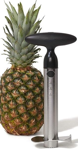OXO Good Grips Stainless Steel Pineapple Corer & Slicer,Silver/Black
