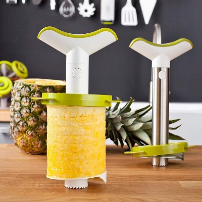 Vacu-Vin-4-in-1-Pineapple-Peeler-Corer-Slicer-and-Wedger-Set